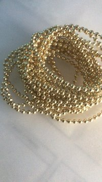 3mm Light Gold Plastic Beads Chain
