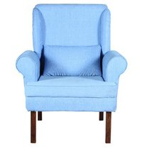 Cerulean Colour Handcrafted Single Seater Sofa