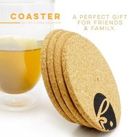 Absorbent Cork Table Coasters For Bottom Of Beverage (Circle)