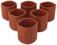 Handmade Pottery Ceramic Kullad Kulhad Set Of 6 Tea Cups