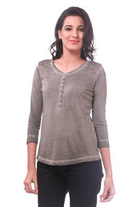 Cotton Plain Ladies Solid Top
