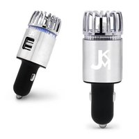 Jkm Car Air Purifier Ionizer With Dual Usb Car Charger