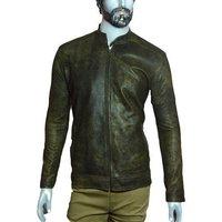 7165e786caa87 Mens Full Sleeves Leather Jacket