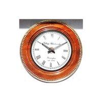Mango Colour Wooden Metal Fitting Wall Clock