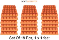 Orange Colour Pyramid Acoustic Foam Tile 1' X 1'