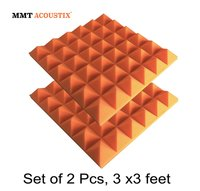 Orange Colour Pyramid Acoustic Foam Tile 3' X 3'