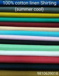Cotton Line Shirting Fabric
