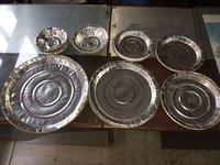 Disposable Silver Paper Dona And Plates