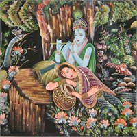 Radha Krishna Velvate Painting