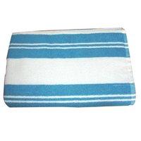 Striped Linen Bathroom Towel