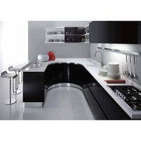 Aluminium Stylish Modular Kitchen