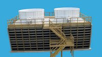 Timber Induced Draft Cooling Towers