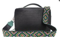 Black Leather Bag With Various Sizes And Designs