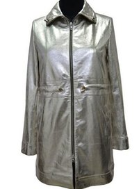 Ladies Long Shine Leather Jackets