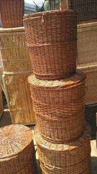 Willow Cane Laundry Basket