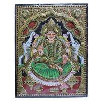 Lord Lakshmi Tanjore Painting