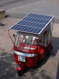 Solar Powered Auto Rickshaw