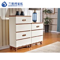 Solid Wood 4 Drawers 3 Drawers Hdf Bucket Cabinet