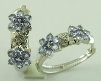 Designer Tanzanite Diamond Earrings