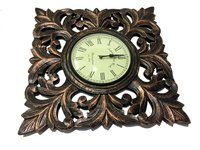 Decorative Wooden Golden Wall Clock