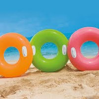 Intex 30 Inch Inflatable Pool Swim Tube With Two Handles