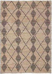 Semi Bleach Hand Woven Jute Loop Carpets