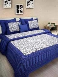 Cotton Hand Printed Bed Sheets