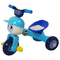 Blue Happy Folding Tricycle