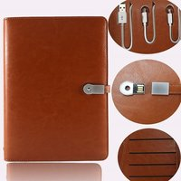 Organiser Diary With Inbuilt Power Bank And Usb Pen Drive