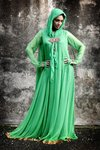 Ladies Elegant Green Farasha