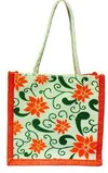 Printed Embroidered Jute Bags