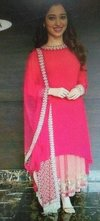Pink Color Fancy Suit With Full Sleeves in Delhi