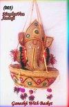 Wall Hanging Ganeshji With Basket