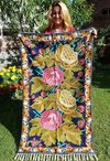 Chain Stitch Embroidered Rug