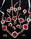 Designer Artificial Flower Necklace Set