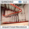 Beige 100% Polyester Machine Jacquard Stair Carpet For Stair