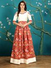 Party Wear Embroidered Gown