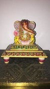 Marble Granite Ganesh Ji With Chowki