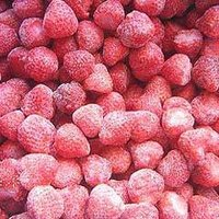 Frozen Red Strawberry Fruit