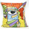 Handmade Picasso Modern Silk Chain Stitch Crewel Cushion Cover