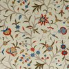Kashmir Hand Embroidered Jacobean Floral Vintage Home Decor Crewel Fabric
