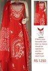Designer Batik Salwar Suit Piece