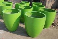 All Color Round Fiberglass Planter