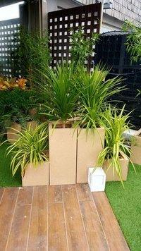 Sandstone Square Plastic Planters