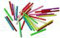 Blue And Multicolor Colorful Plastic Sticks (Size: 62 Mm - 80 Mm)