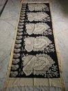 Chanderi Kalamkari Black And White Dupatta