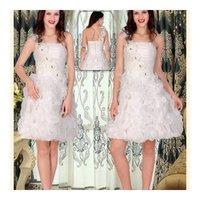 Ladies Short White Gown