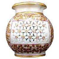 White Decorative Marble Pot