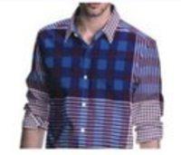 Check Pattern Mens Shirting Fabric