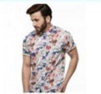 Short Sleeves Printed Pattern Mens Shirts